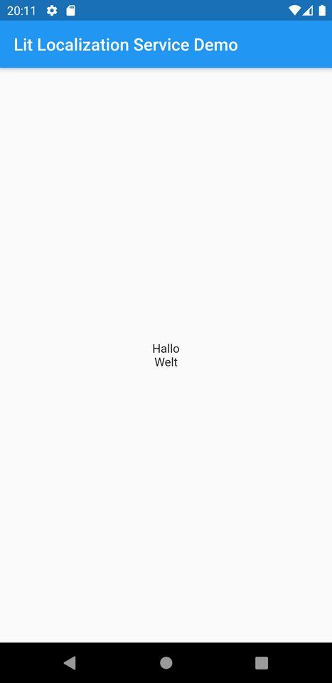 'Hello Word' in German Localization