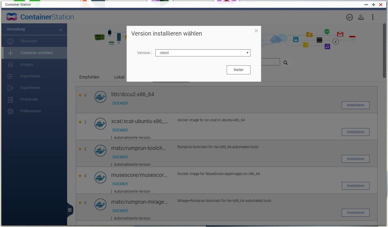 Run the docker image on a QNAP NAS · litti/dccu2 Wiki · GitHub