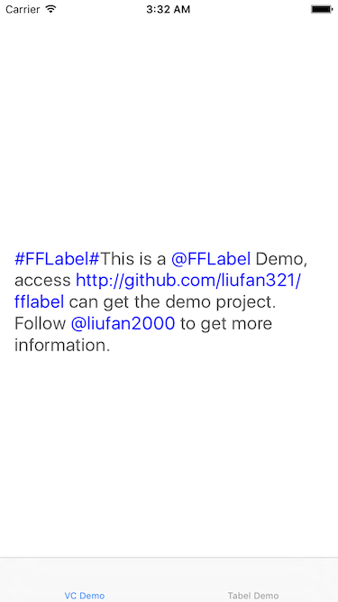 FFLabel