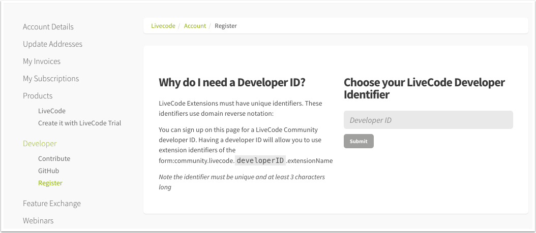 Extending LiveCode | LiveCode