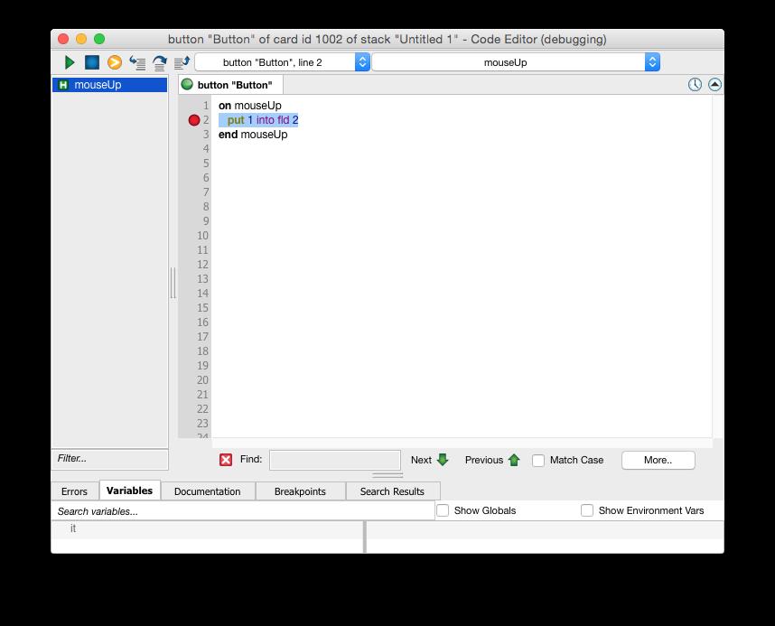 Error Handling And Debugging | LiveCode