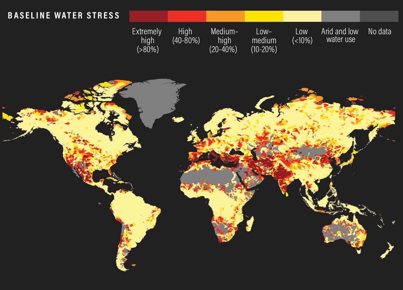 Global Map of Baseline Water Stress