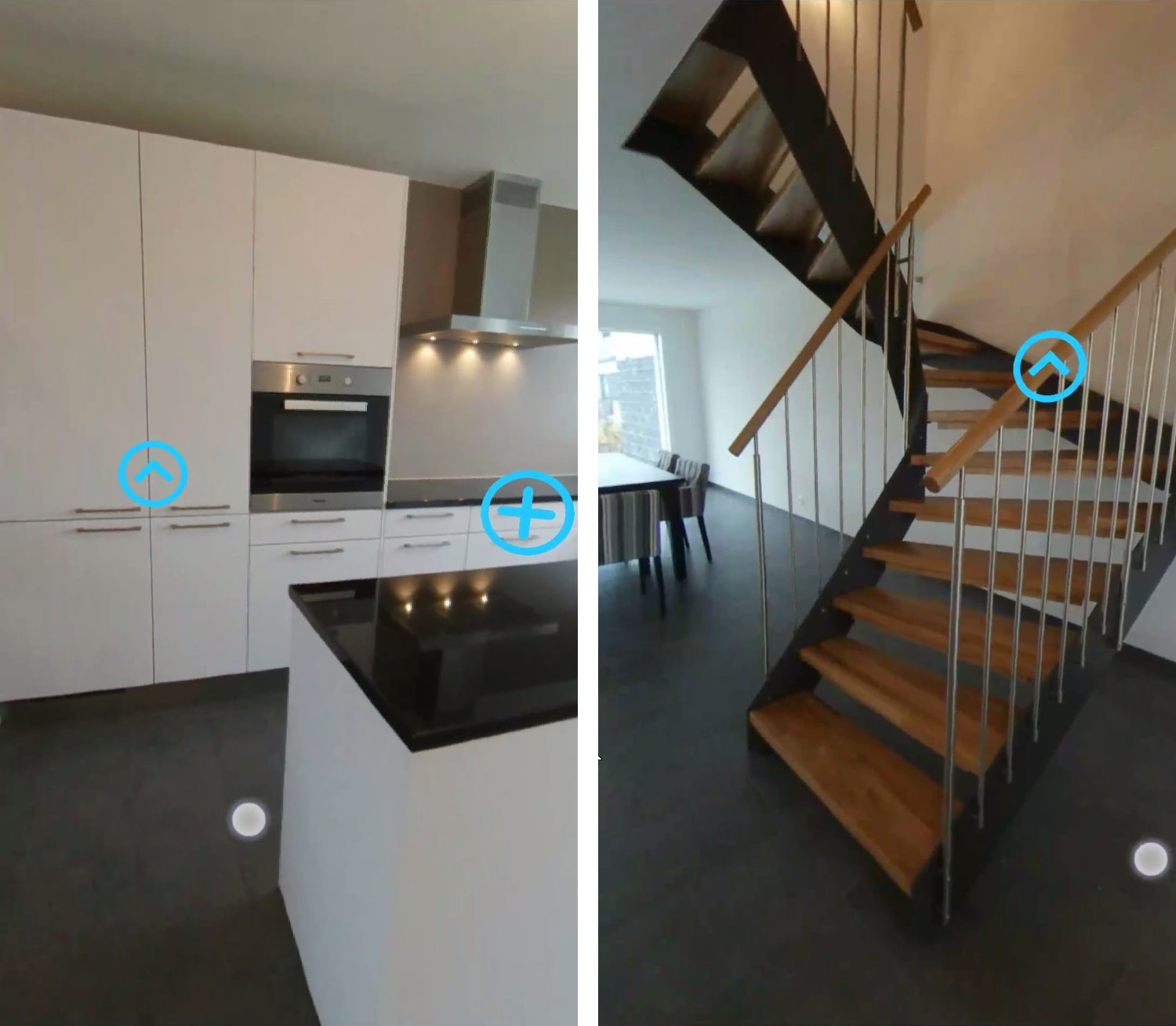 Visit kitchen and stairs