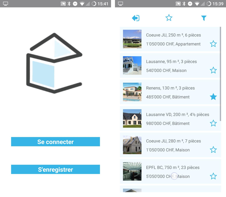 App splash screen and main menu
