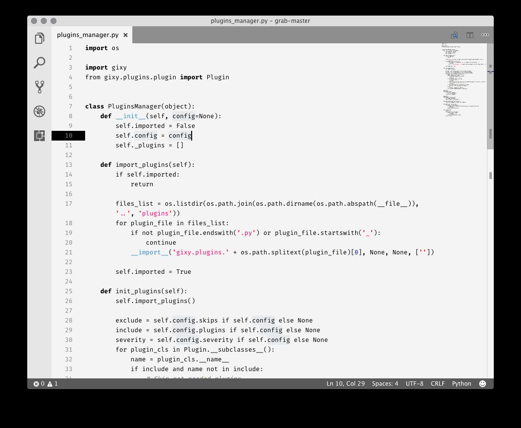 Python white example 1