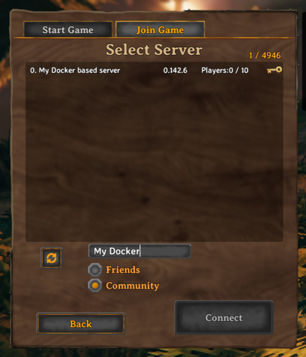 in-game server browser