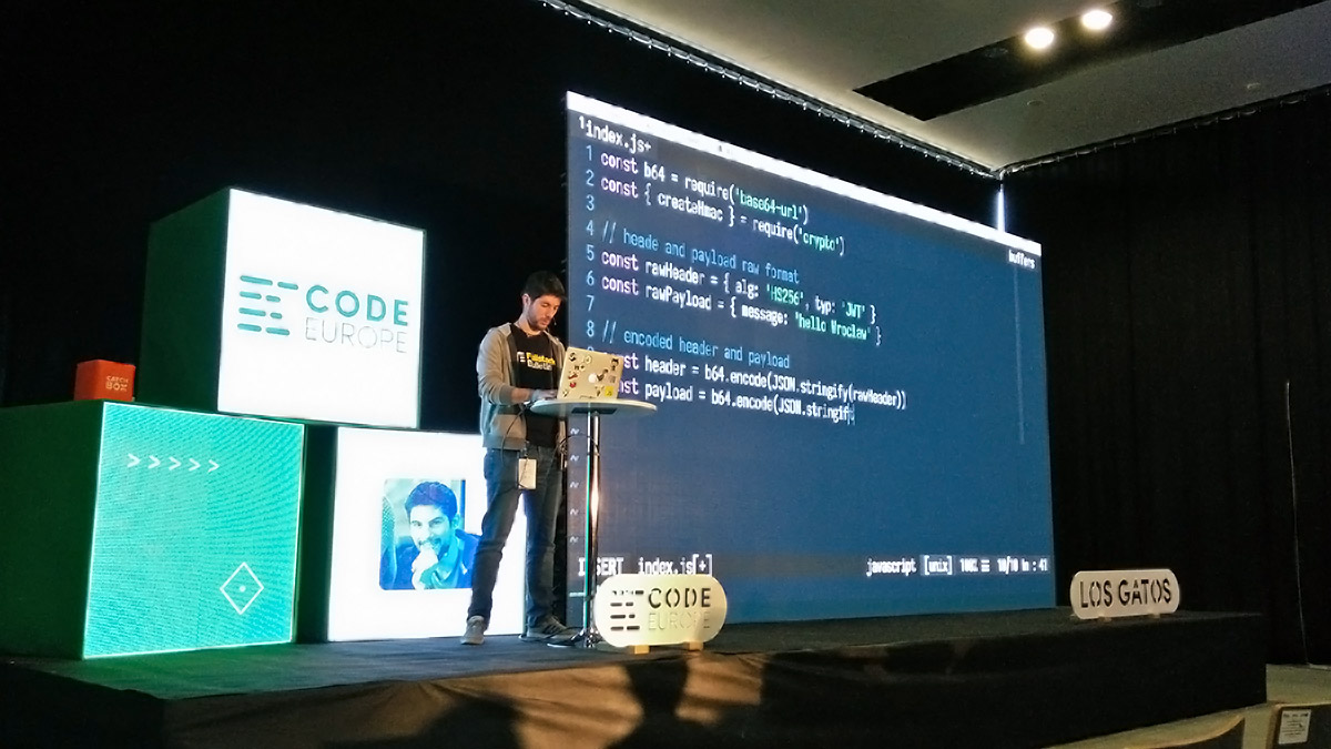 Luciano Mammino at CodeEurope Wroclaw