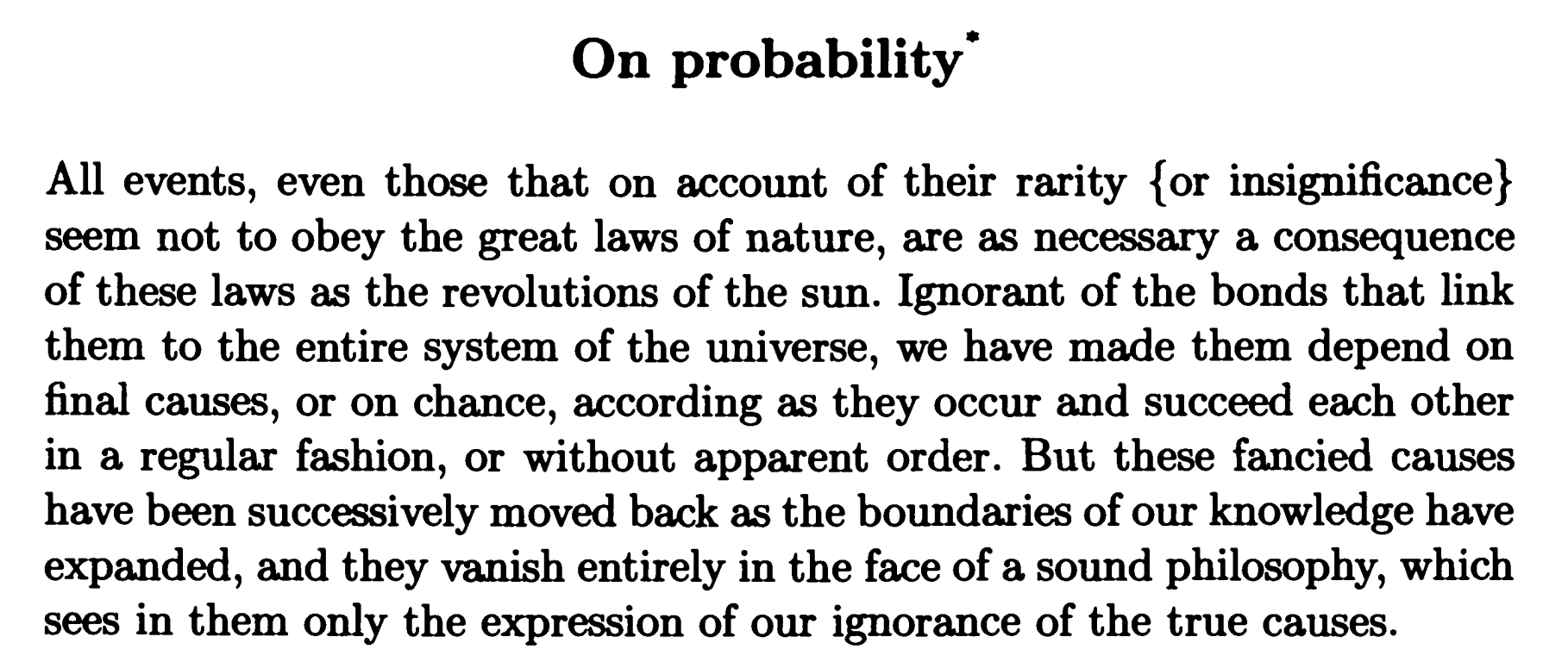 conditional probability and bayes rule above < es in fact laplace discusses testimony throughout the essay including several times just in the first chapter