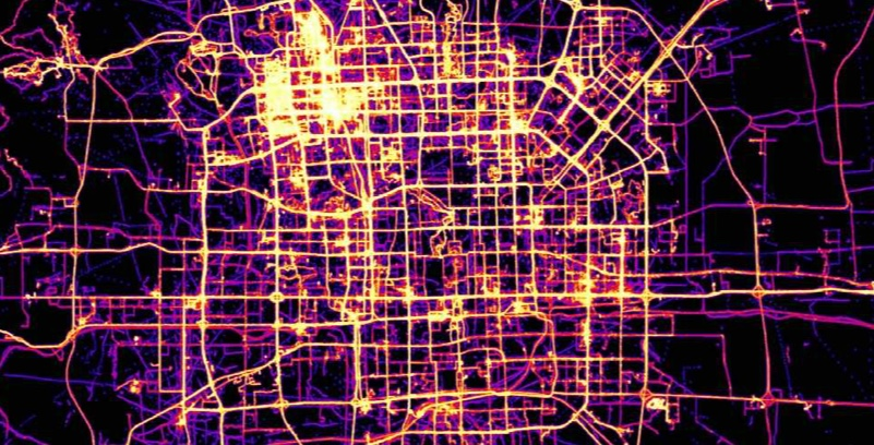 Geolife data at city scale