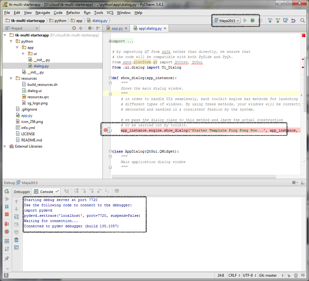 Maya Remote debugging with PyCharm