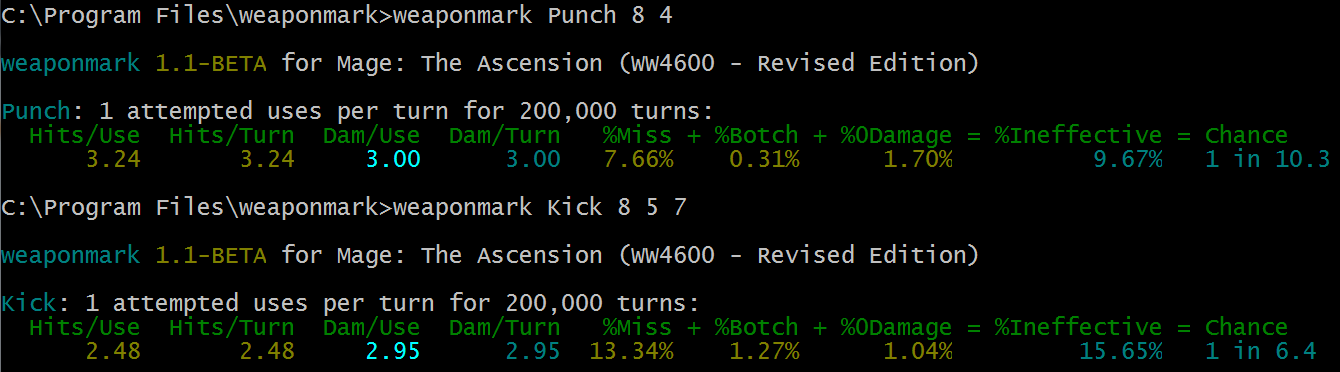 Broken Kick Example