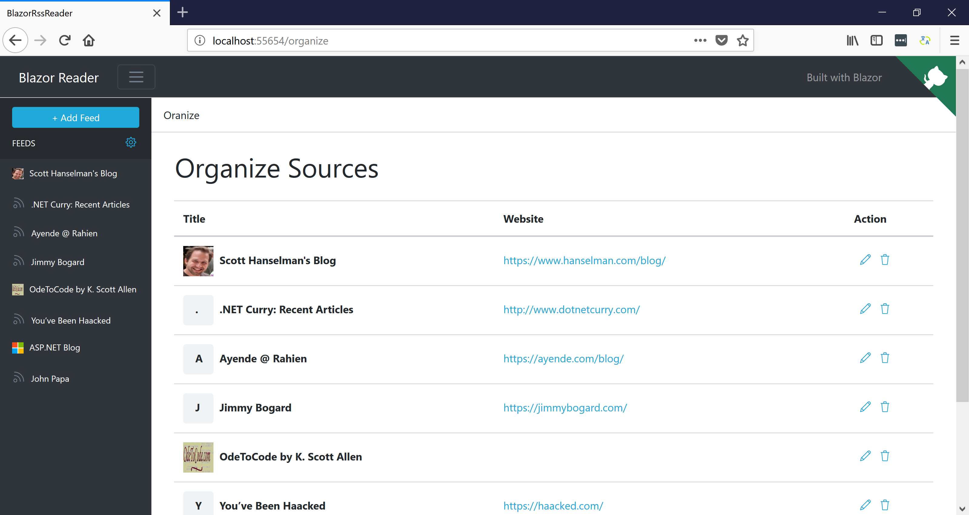 Organize Sources