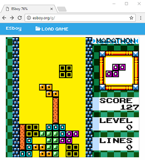 Tetris DX running on Chrome