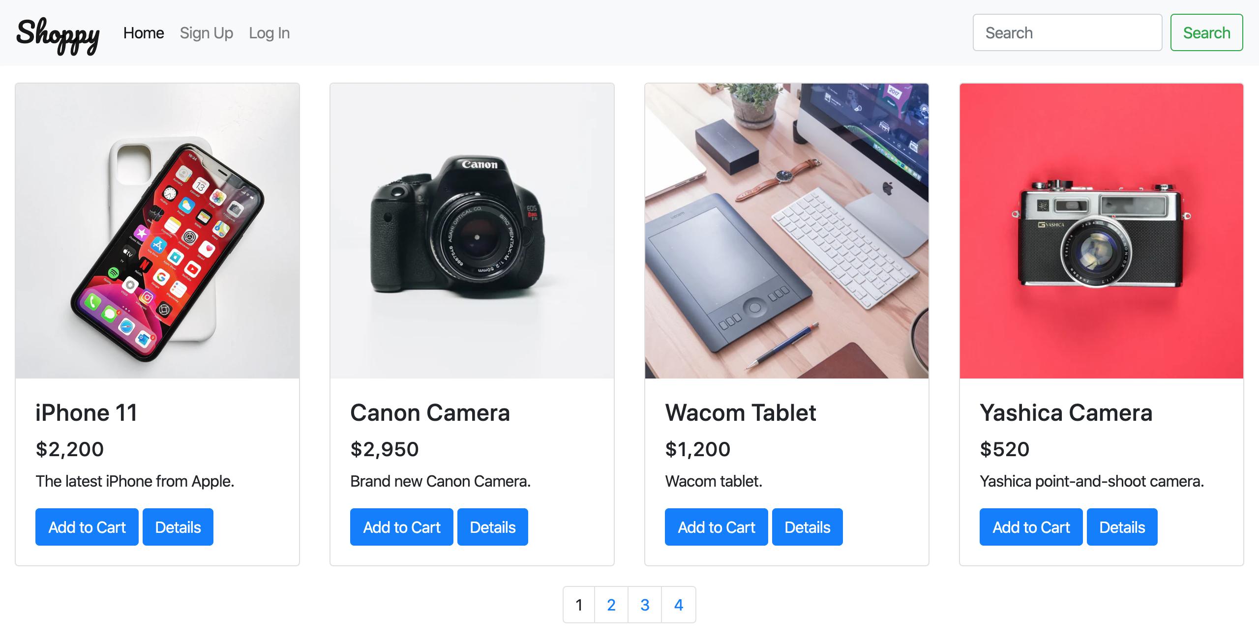 Shoppy website