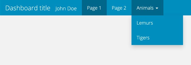 Figure 1: Navigation bar of the dashboard after adding several pages.