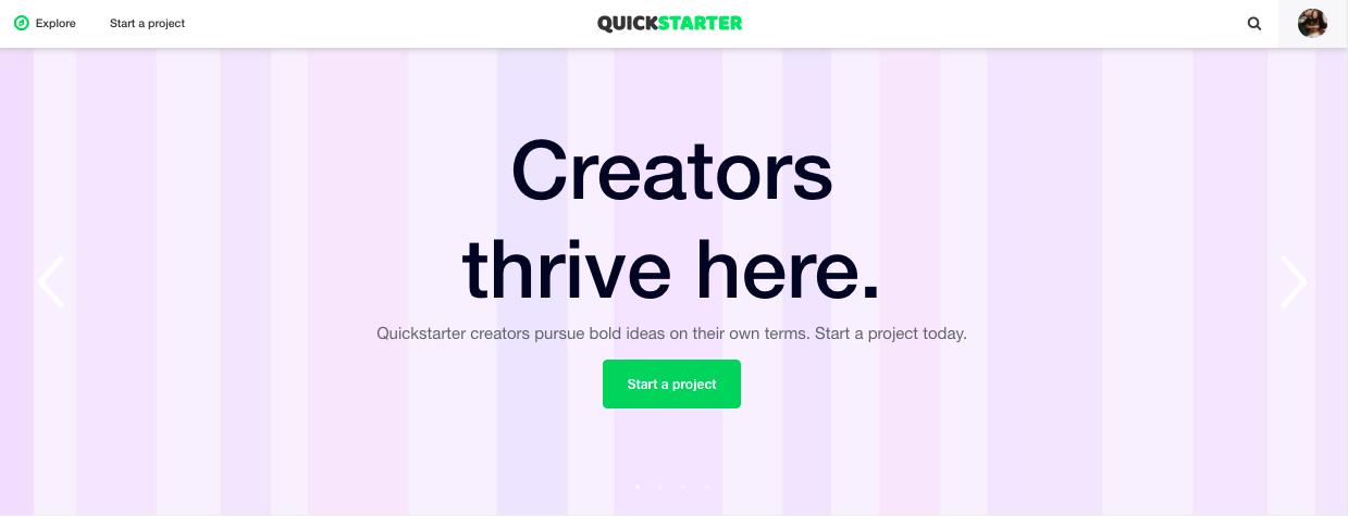 Quickstarter carousel
