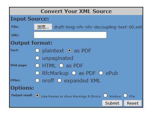 xml2rfc debug