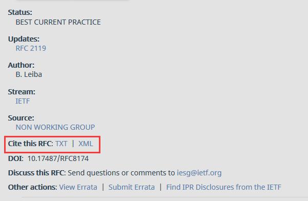 IETF Ref 示例