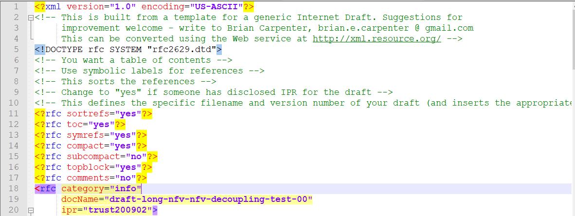 IETF Draft xml template
