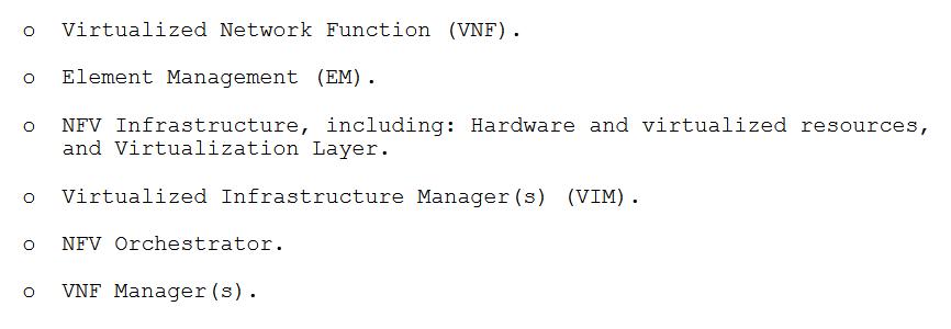 ETSI NFV architecture