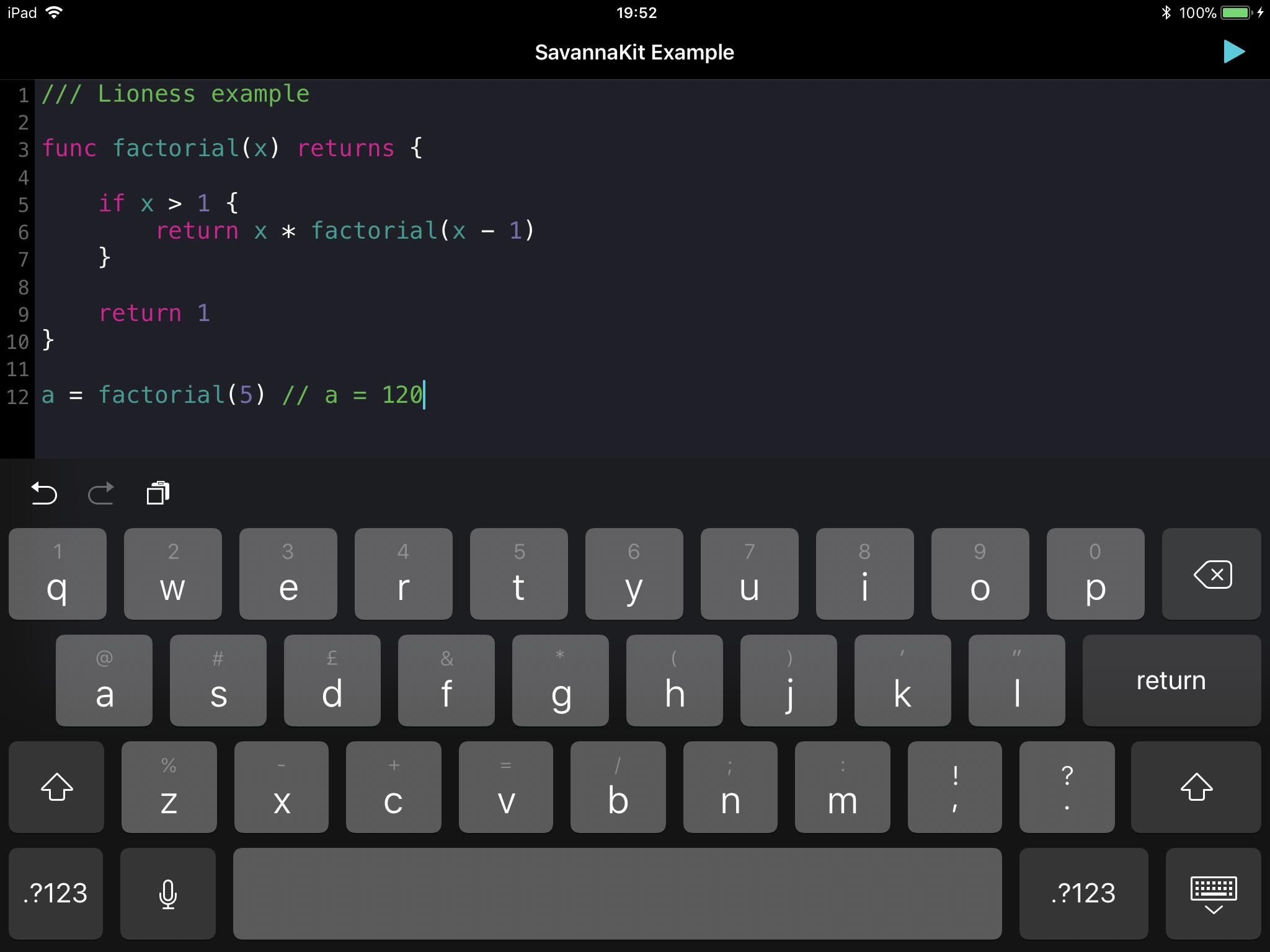 iOS Example