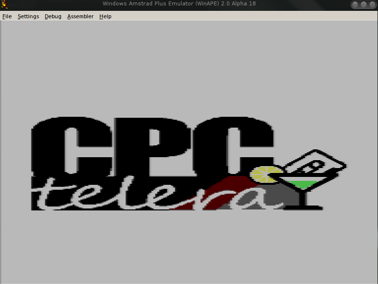CPCtelera sprites demo showing logo
