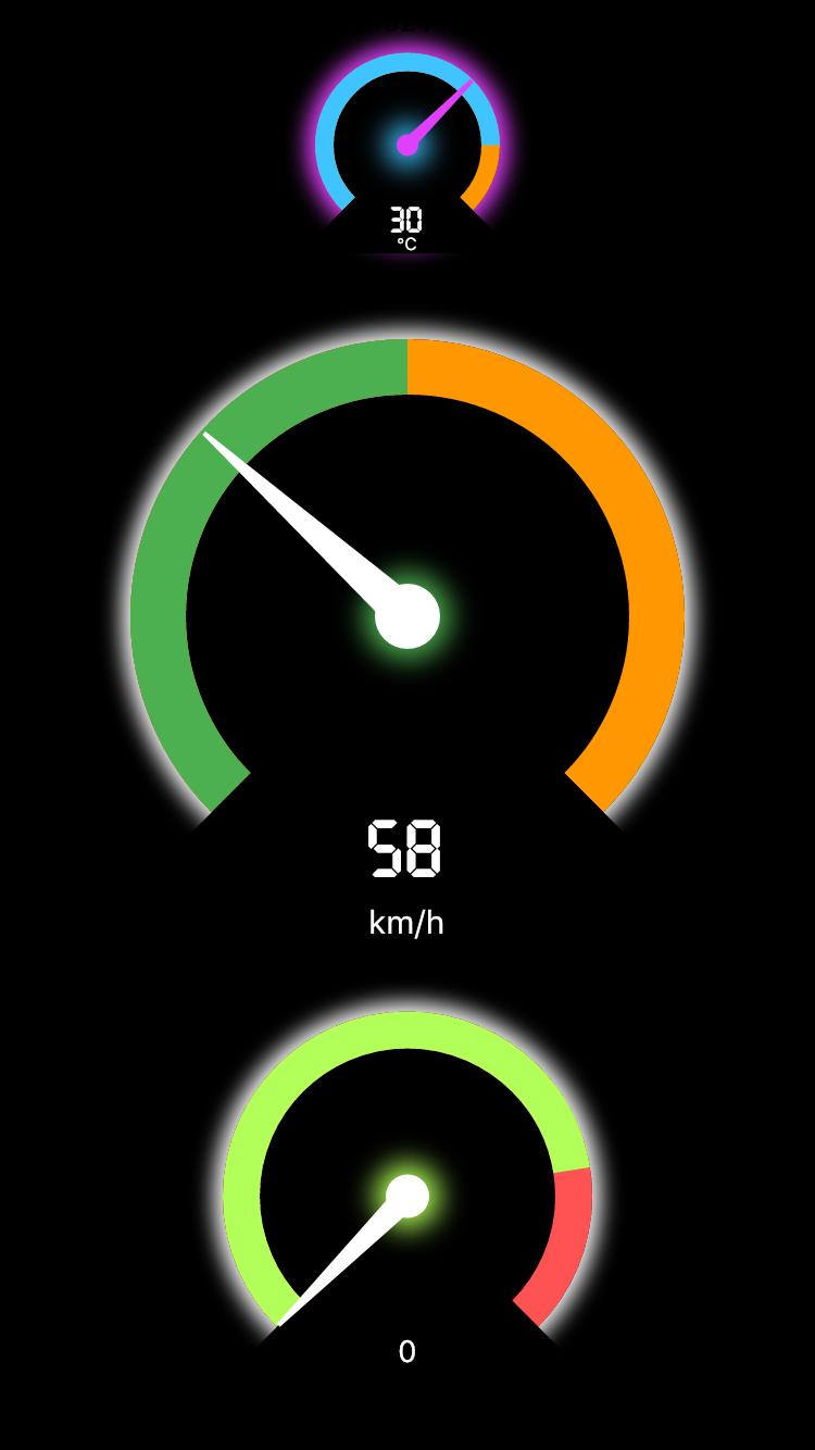 Flutter Speedometer Widget