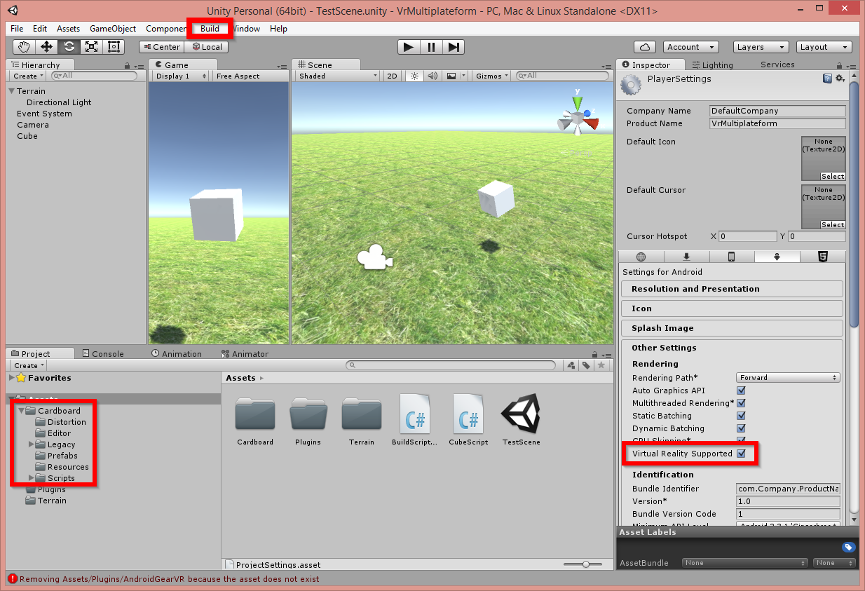Virtual Reality in Unity