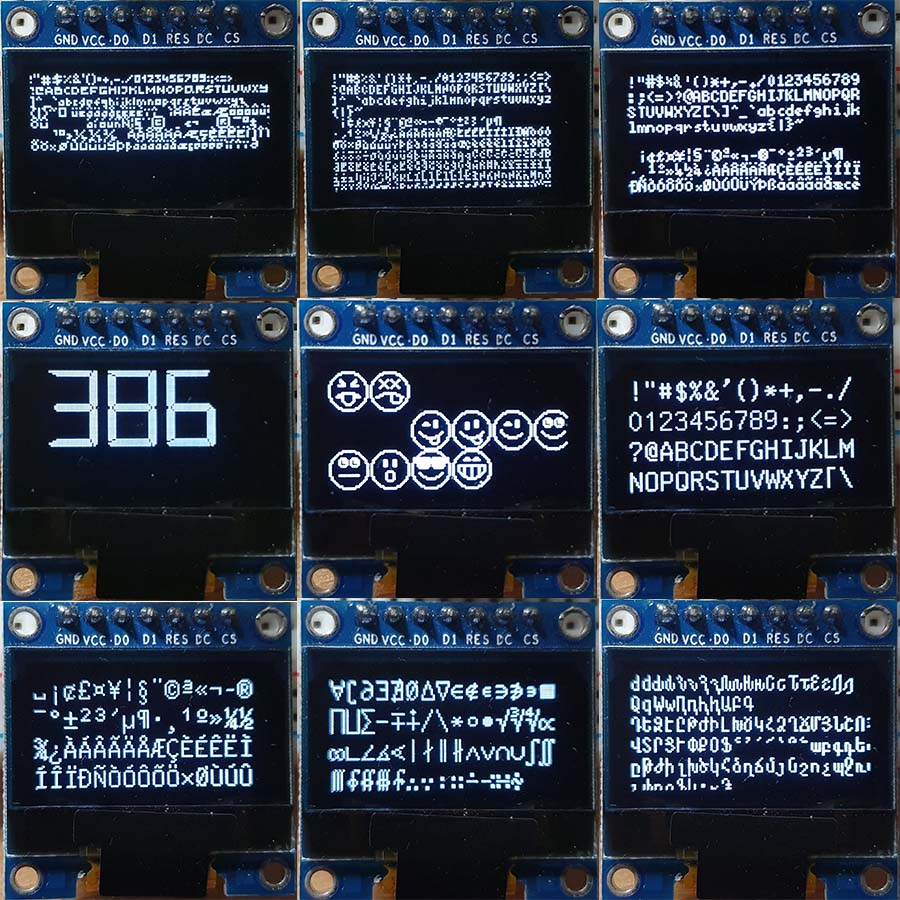 Samples using OLED lib