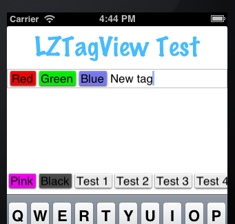 Screenshot of LZTagView