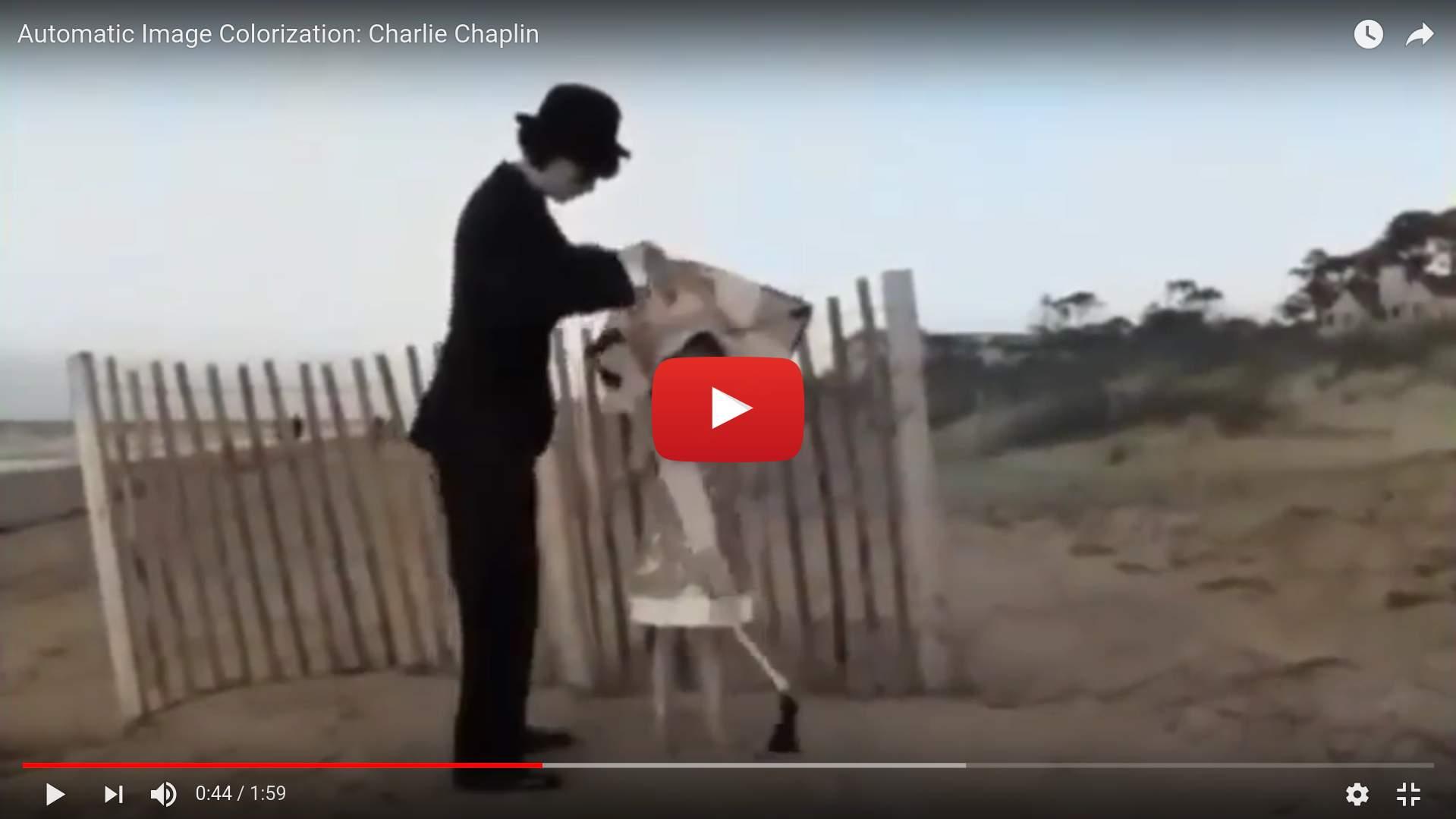 Colorizing Charlie Chaplin