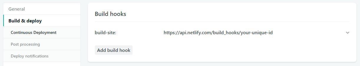Webhook Build URL