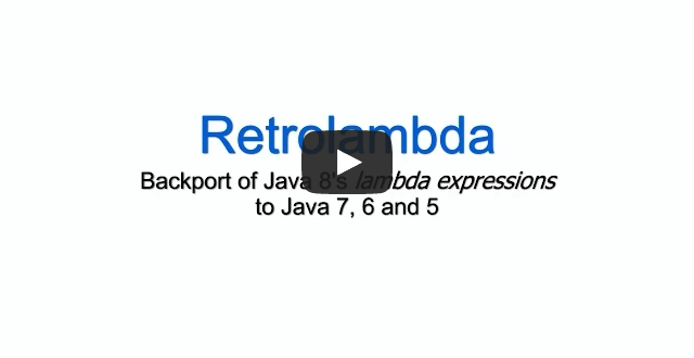 Retrolambda presentation video
