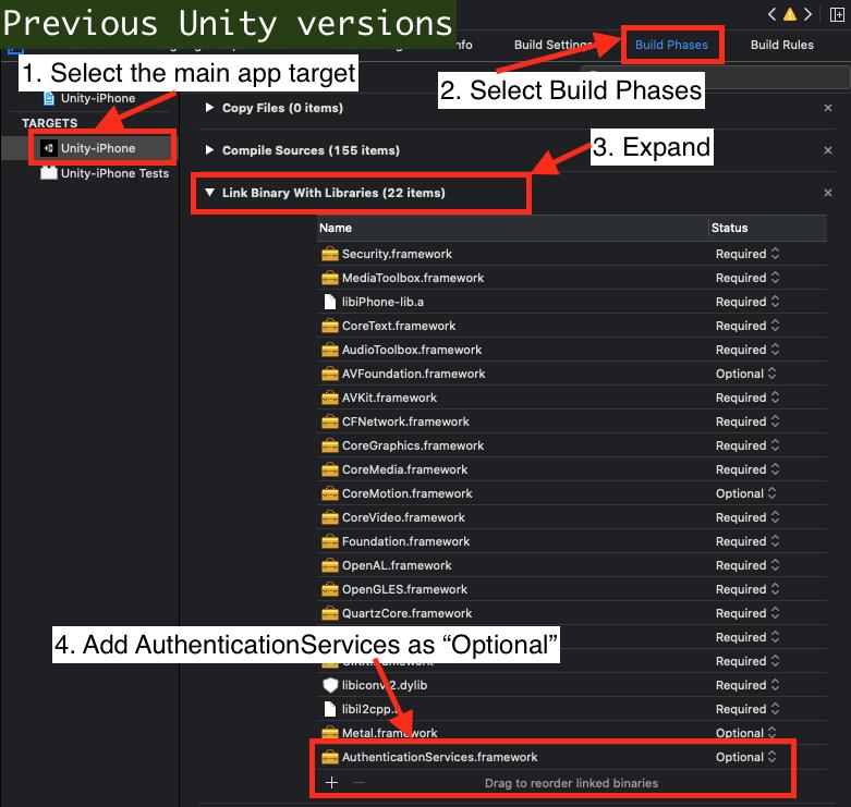 Add Framework Previous versions