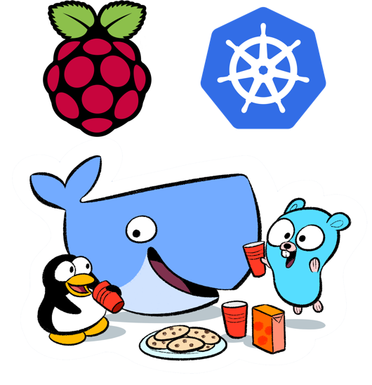Image of Kubernetes and Raspberry Pi
