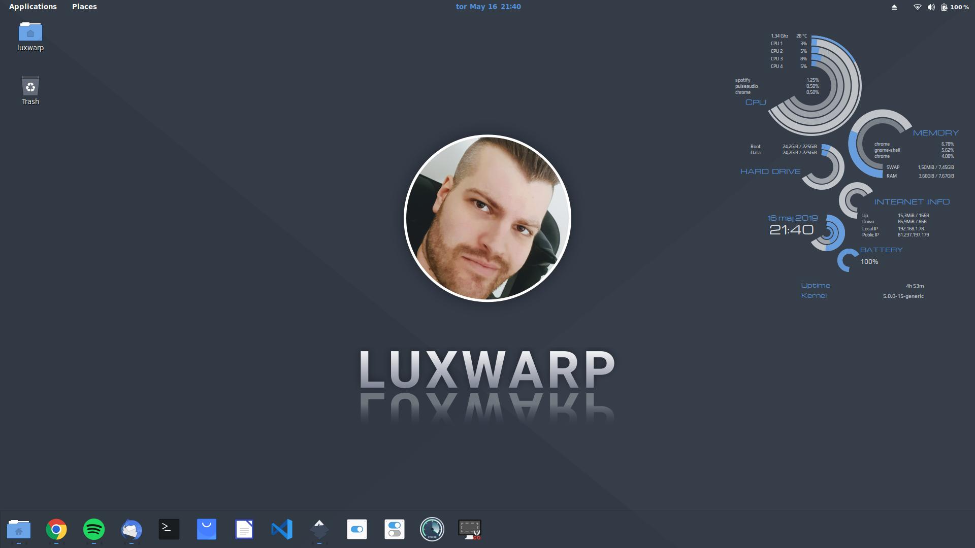 """luxwarp wallpaper Screenshot desktop"""""""