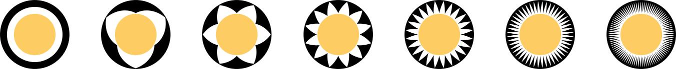 triangular glyphs