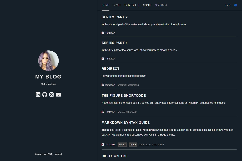 Screenshot Anatole Theme (dark)