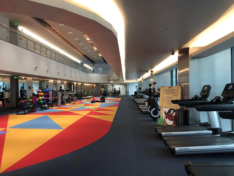 腾讯滨海大厦健身房