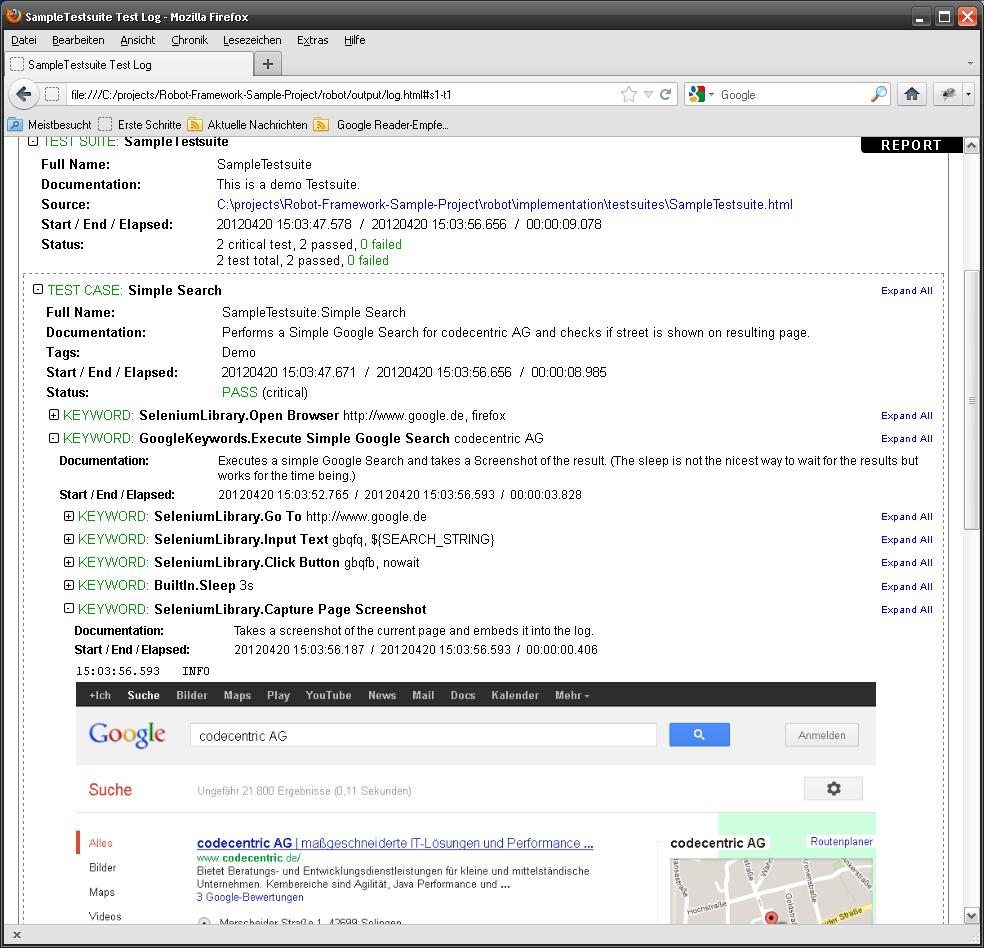 Robot Framework 的 log 文件,其中含有浏览器屏幕截图