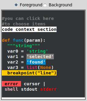 image of example code