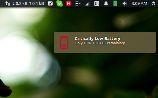 Critically Low Battery State