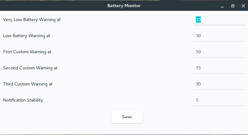 Battery Monitor GUI