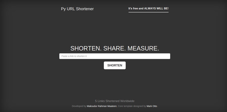 Py URL Shortener Screenshot-1