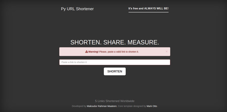 Py URL Shortener Screenshot-2
