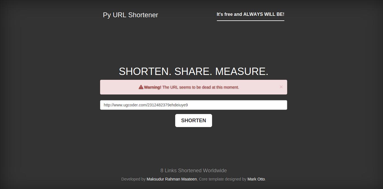 Py URL Shortener Screenshot-3