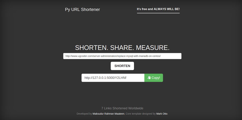 Py URL Shortener Screenshot-4