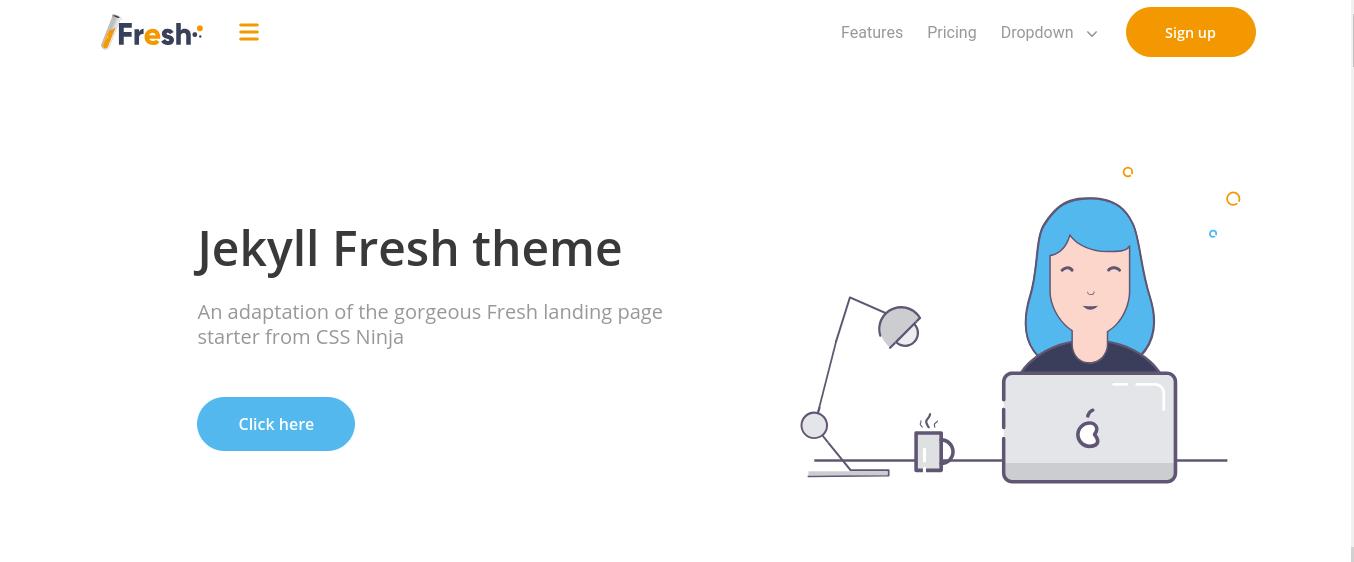 Jekyll Fresh theme screenshot