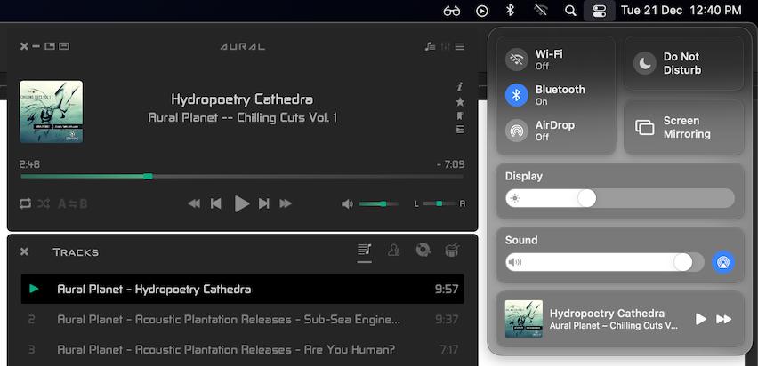 Control Center integration 1 screenshot