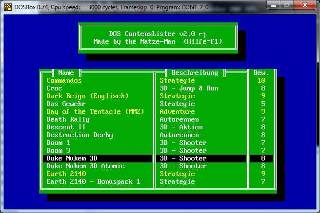 Games Catalog